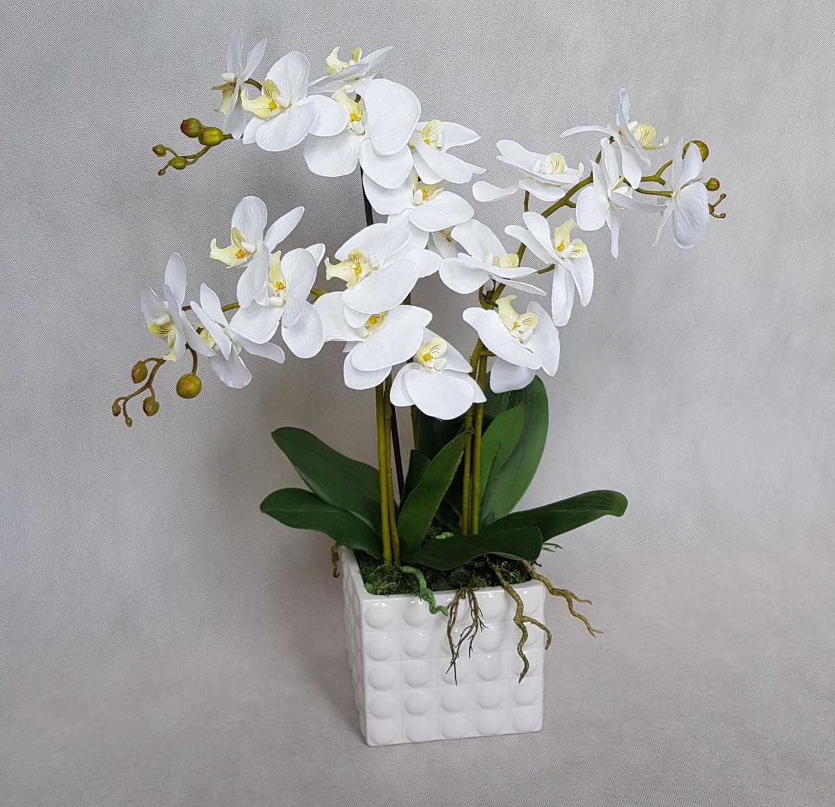 sztuczny storczyk biały