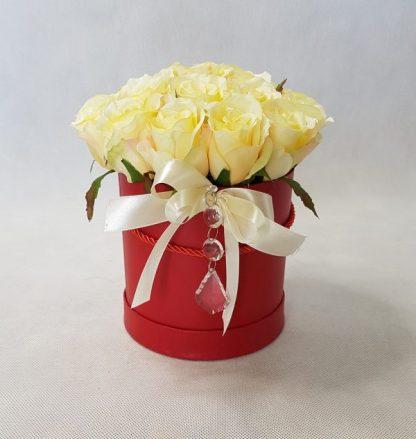 kwiaty w czerwonym pudełku - wzór 34 - zdjęcie 1