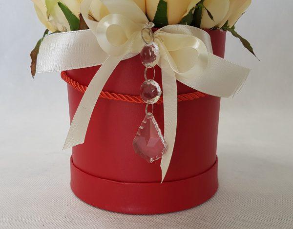 kwiaty w czerwonym pudełku - wzór 34 - zdjęcie 2