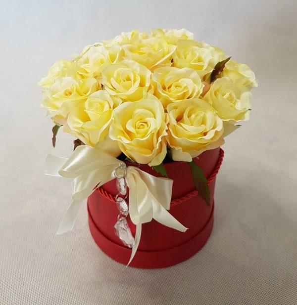 kwiaty w czerwonym pudełku - wzór 34 - zdjęcie 3