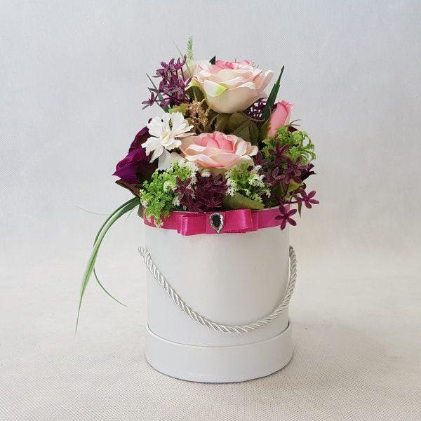 kwiaty w białym pudełku - wzór 36 - zdj 1