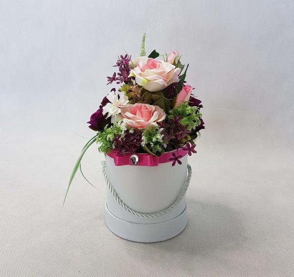 kwiaty w białym pudełku - wzór 36 - zdj 4
