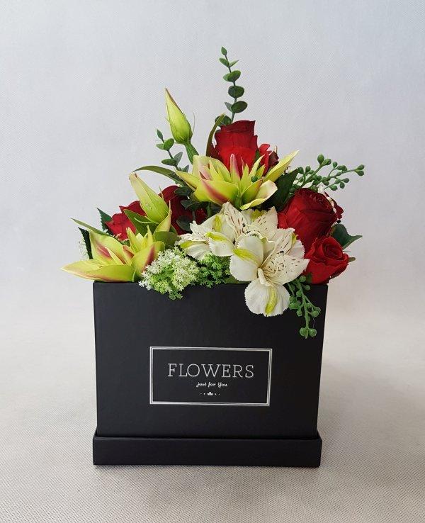kwiaty w czarnym pudełku - wzór 38 - zdj 1
