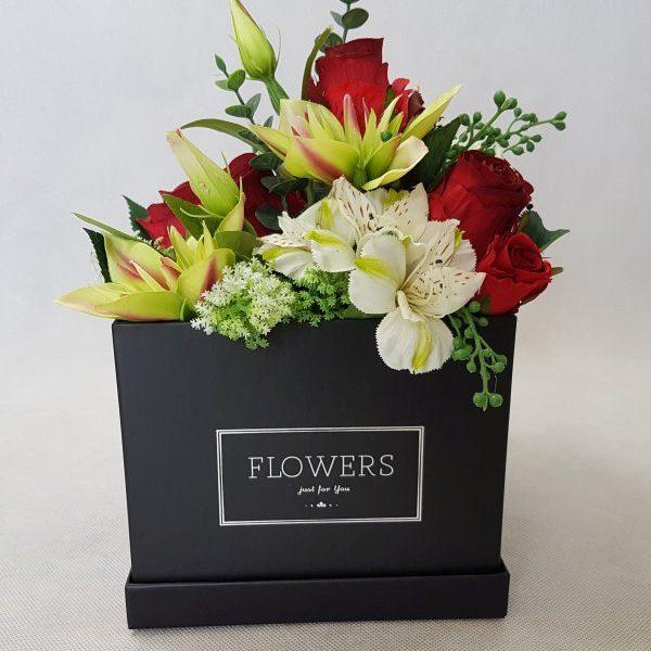 kwiaty w czarnym pudełku - wzór 38 - zdj 2