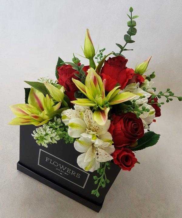 kwiaty w czarnym pudełku - wzór 38 - zdj 3