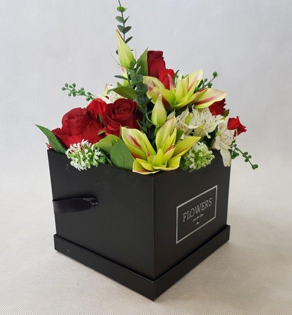 kwiaty w czarnym pudełku - wzór 38 - zdj 5