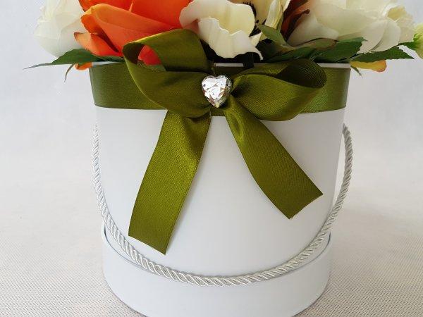 duże kwiaty w pudełku - wzór 40 - zdj 2