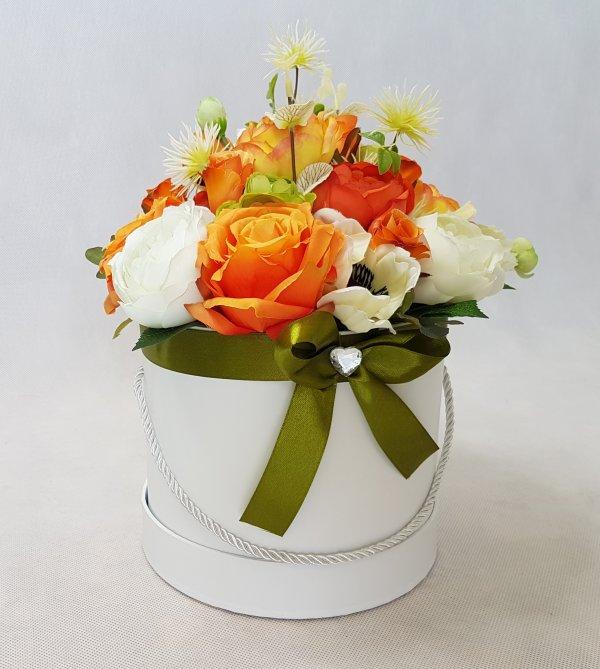 duże kwiaty w pudełku - wzór 40 - zdj 5