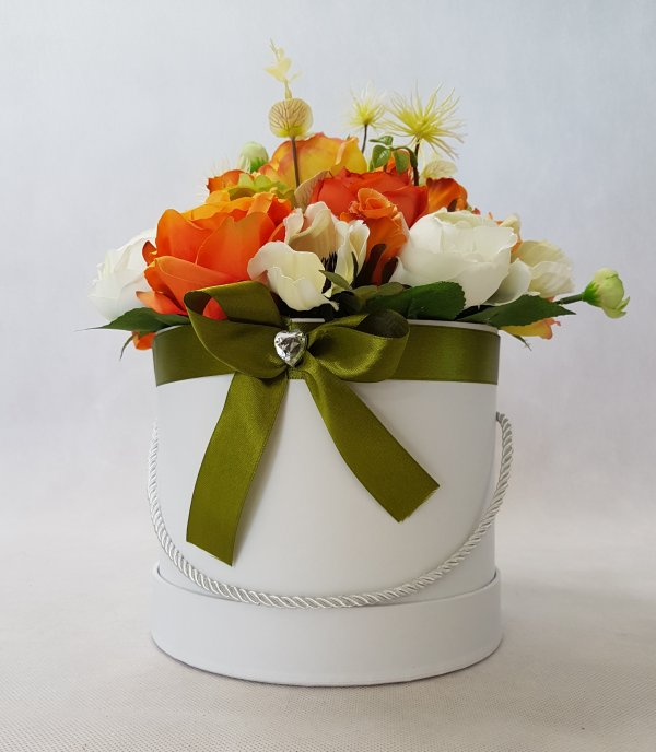 duże kwiaty w pudełku - wzór 40 - zdj 6