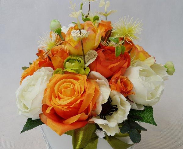 duże kwiaty w pudełku - wzór 40 - zdj 7