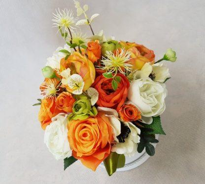 duże kwiaty w pudełku - wzór 40 - zdj 9