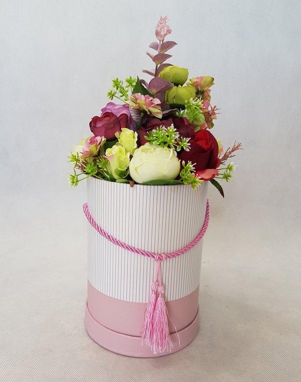 wysokie kwiaty w pudełku - wzór 41 - zdj 1