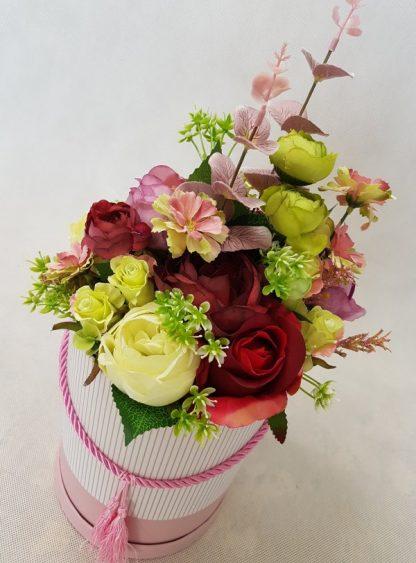 wysokie kwiaty w pudełku - wzór 41 - zdj 3