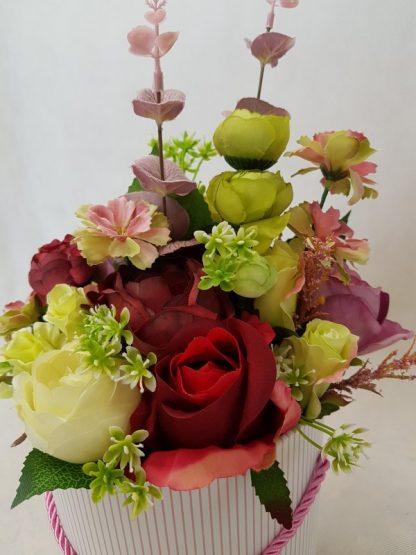 wysokie kwiaty w pudełku - wzór 41 - zdj 5