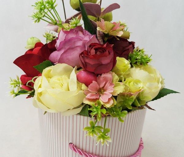 wysokie kwiaty w pudełku - wzór 41 - zdj 6