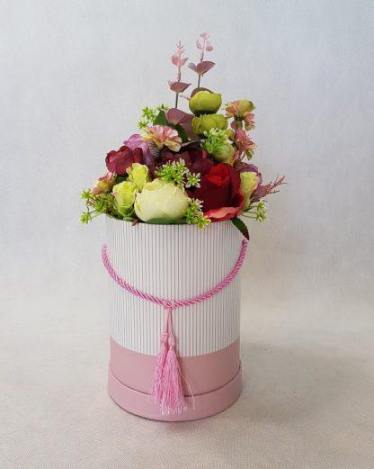 wysokie kwiaty w pudełku - wzór 41 - zdj 7