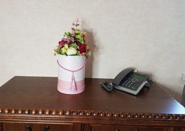 wysokie kwiaty w pudełku - wzór 41 - zdj 8