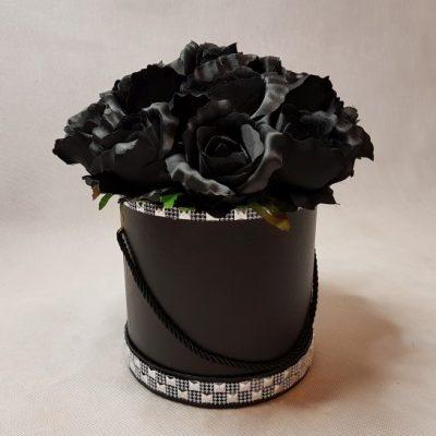 czarne róże w pudełku-wzor56-05