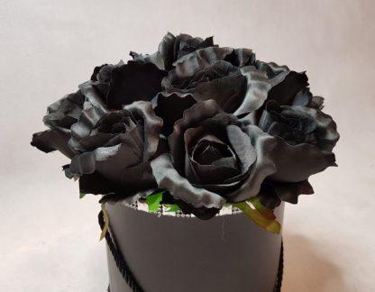 czarne róże w pudełku-wzor56-09