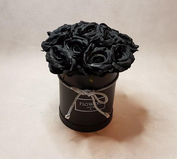 czarne róże w pudełku - wzór 57 - 1