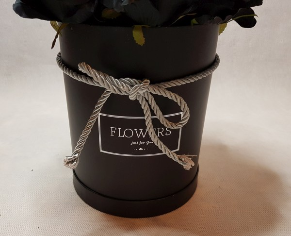 czarne róże w pudełku - wzór 57 - 2