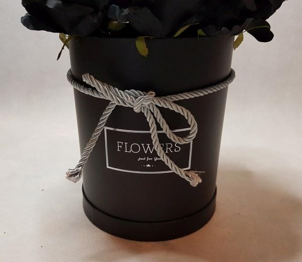 czarne róże w pudełku - wzór 57 - 3
