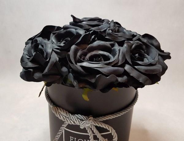 czarne róże w pudełku - wzór 57 - 4