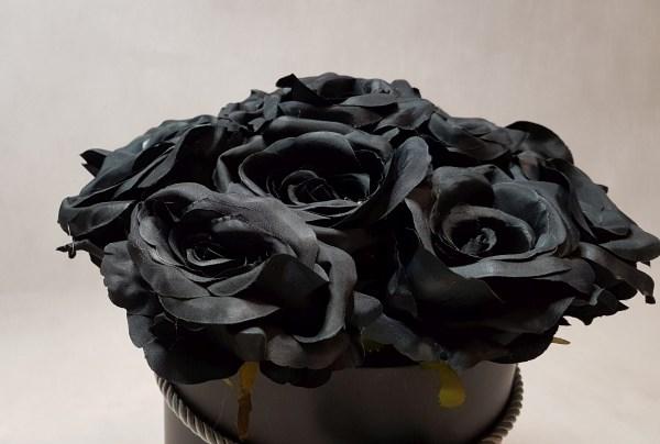 czarne róże w pudełku - wzór 57 - 5