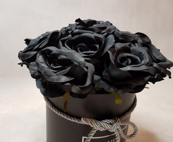 czarne róże w pudełku - wzór 57 - 6