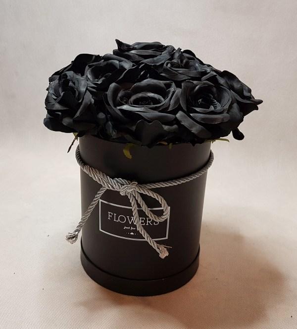 czarne róże w pudełku - wzór 57 - 7