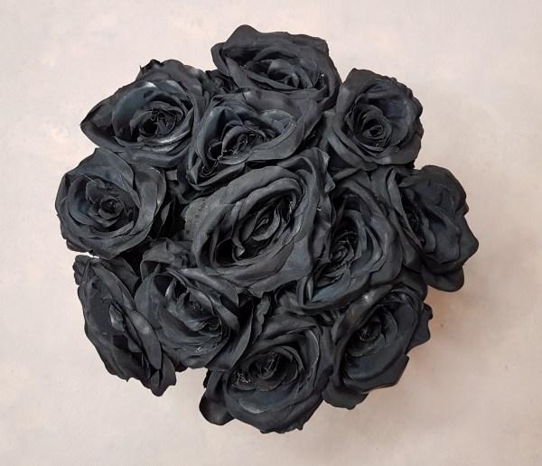 czarne róże w pudełku - wzór 57 - 8