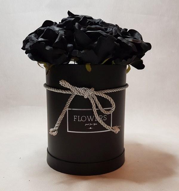czarne róże w pudełku - wzór 57 - 9