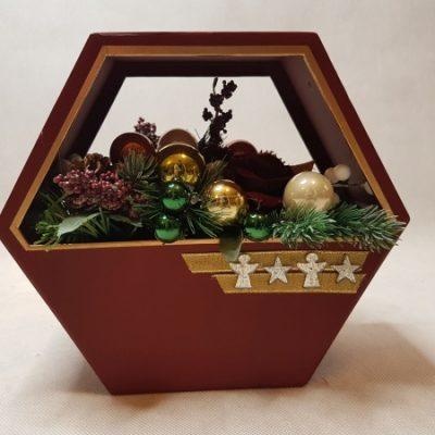 bożonarodzeniowy flowerbox - wzór 61 - 5